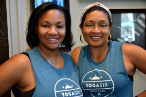 YogaSix Hyde Park owners Sharon Calhoun Norman and Crystal Pinkston